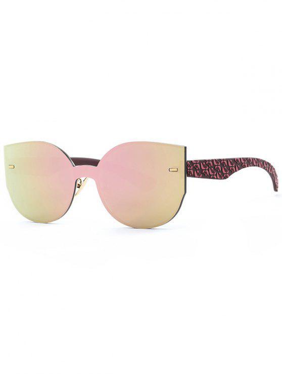 Gafas de sol al aire libre de gran tamaño con espejo - Rosa