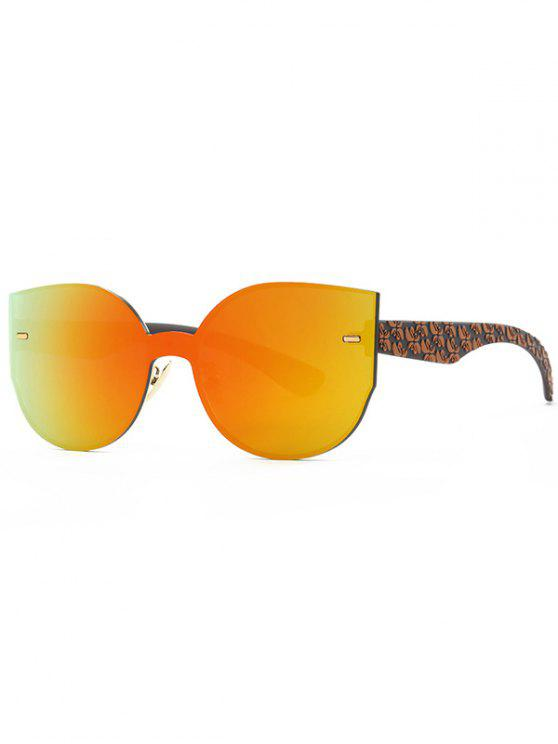 latest Outdoor Oversized Mirrored Sunglasses - ORANGE