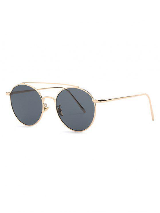 affordable Metal Frame Pilot Sunglasses - GRAY