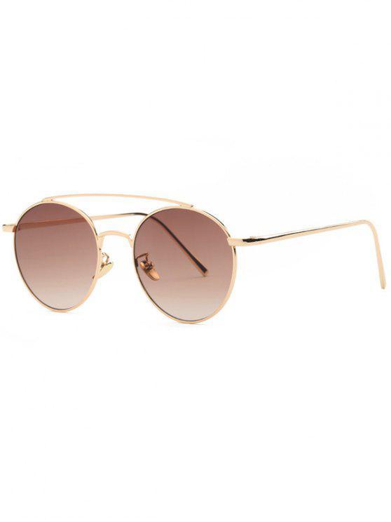 buy Metal Frame Pilot Sunglasses - TEA-COLORED