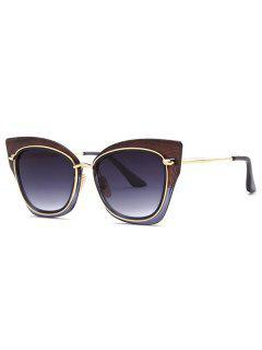 Vintage Cat Eye Sunglasses - Brown