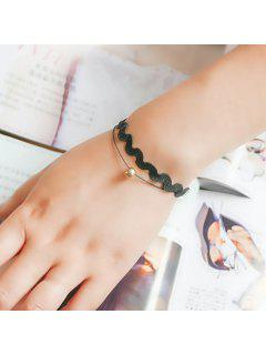 Vintage Twisted Bead Bracelet For Women - Black