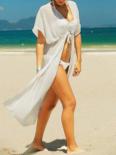 Chiffon Kaftan Cover-Up - White