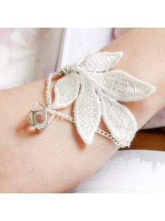 Géométrique Floral Vintage Bracelet Pour Les Femmes - Blanc