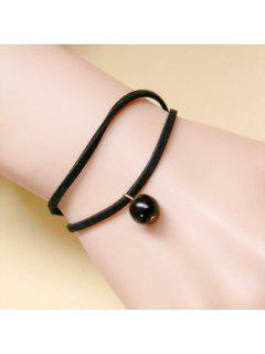 Layered Rope Bead Bracelet - Black