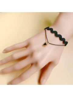 Graceful Layered Rope Triangle Bracelet For Women - Black