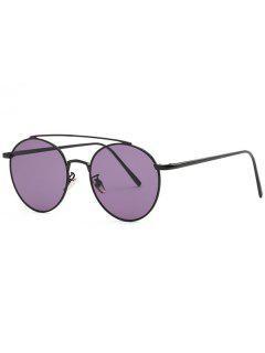 Métal Cadre Pilot Sunglasses - Pourpre