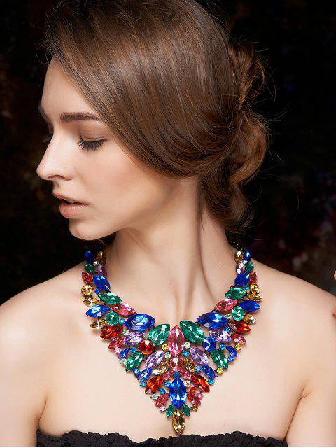 sale Colorful Faux Crystal Necklace - COLORMIX  Mobile