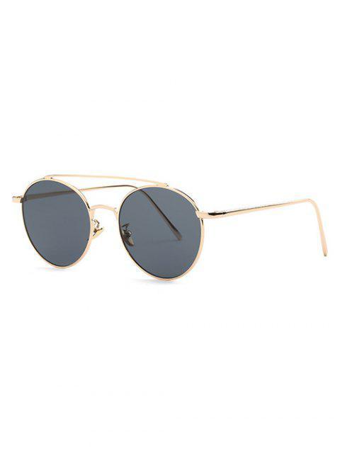 affordable Metal Frame Pilot Sunglasses - GRAY  Mobile
