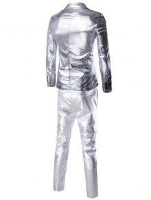 eaa9741945ee + pantalones de moda Brillo Blazer Twinset Trajes de hombres