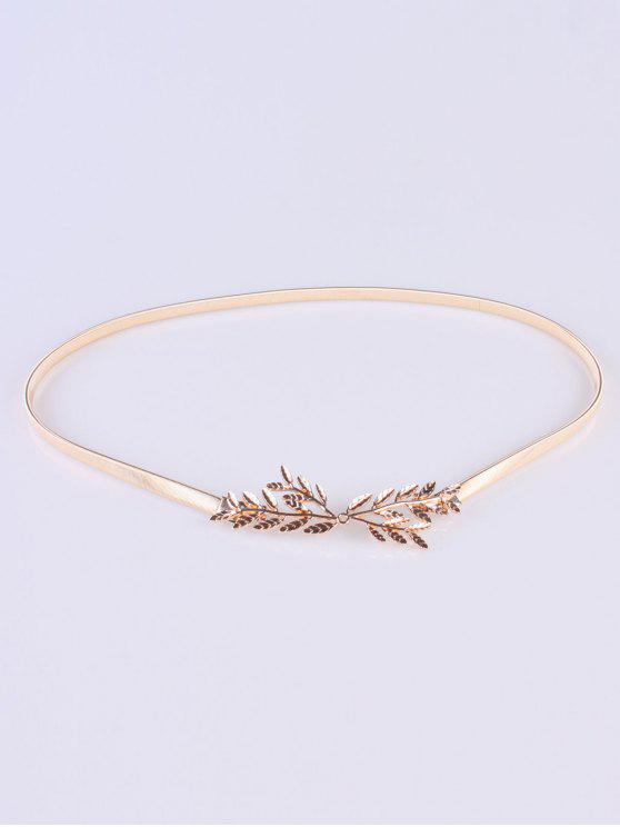 outfits Small Leaf Branch Elastic Waist Belt - GOLDEN