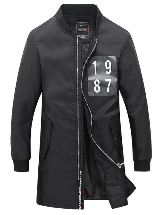 الضلع الكفة عدد الطباعة زر التقط زر جيب للرجال - أسود M