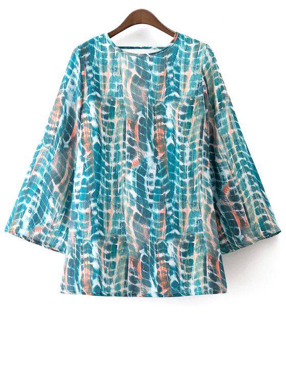 fashion Low Back Tie-Dye Dress - COLORMIX M