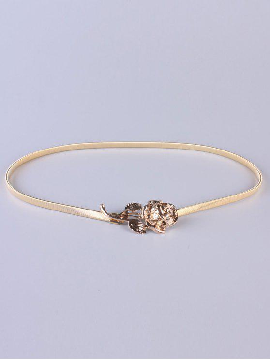 unique Rose Elastic Waist Belt - GOLDEN