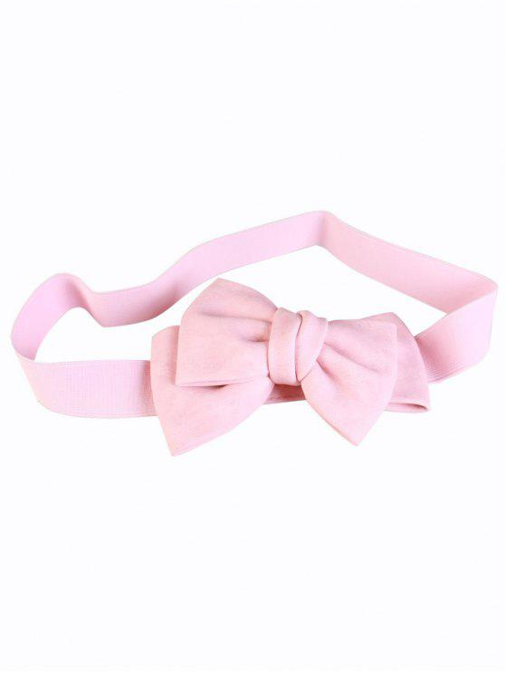 outfit Big Bowknot Wide Elastic Belt - PINK