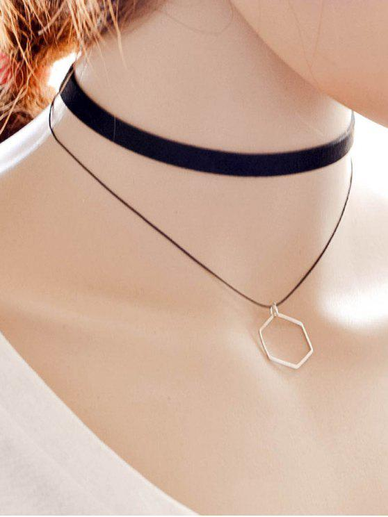 sale Geometric Choker - BLACK