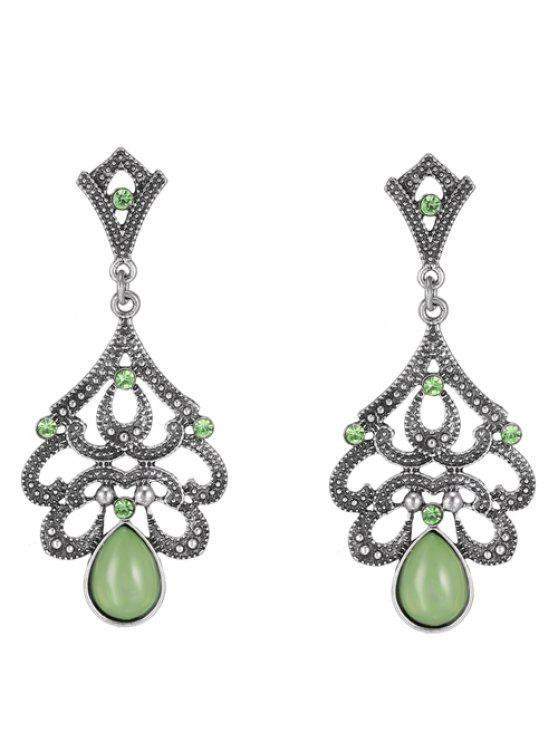 affordable Water Drop Beads Earrings - GREEN
