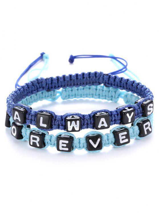 new Letters Always Forever Woven Bracelets - SAPPHIRE BLUE