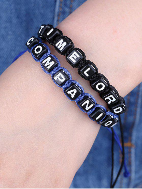 fashion Letters Time lord Companion Bracelets - BLUE AND BLACK