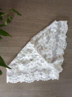 Couleur Unie Culotte Dentelle Crochet - Blanc S