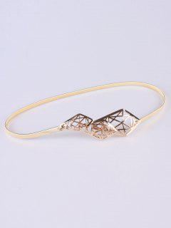 Cut Out Geometry Elastic Waist Belt - Golden