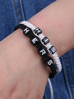 His Hers Woven Bracelets - White And Black