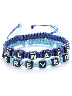 Letters Always Forever Woven Bracelets - Sapphire Blue