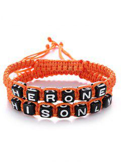 Her One His Only Bracelets - Orange