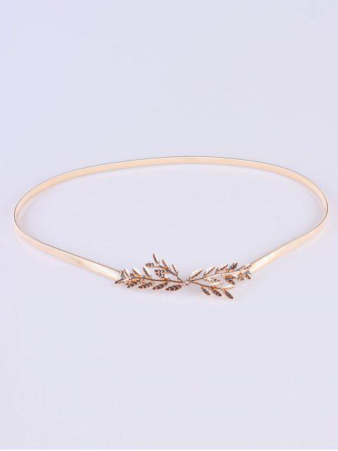 outfits Small Leaf Branch Elastic Waist Belt - GOLDEN  Mobile