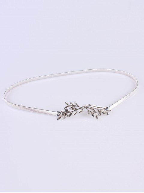 Direction Small Leaf Elastic ceinture - Argent  Mobile