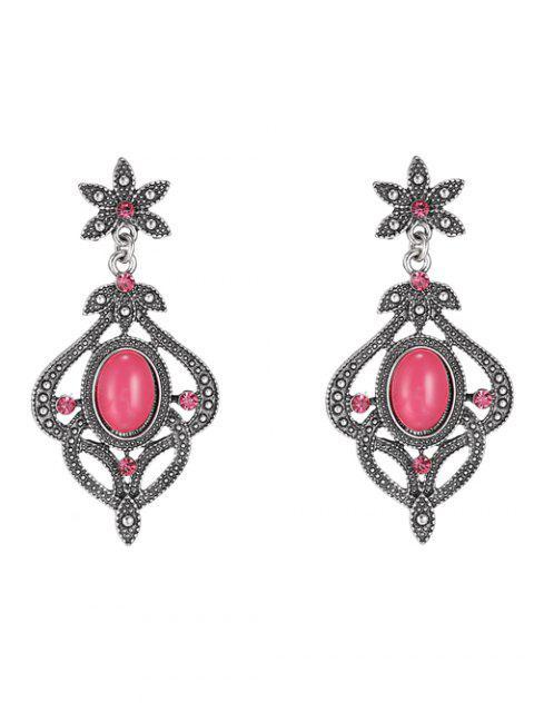 fashion Rhinestone Floral Earrings -   Mobile