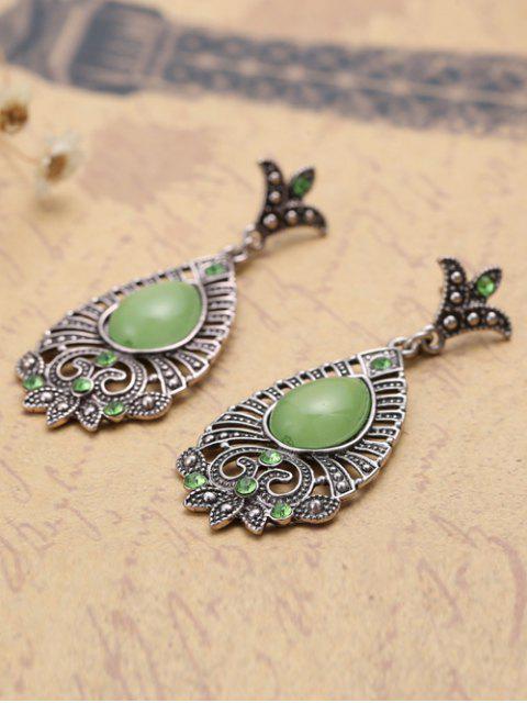sale Water Drop Leaf Earrings -   Mobile