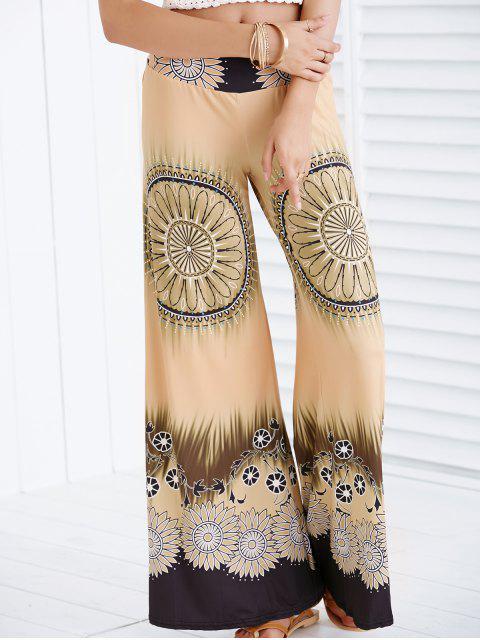 Étnicos impresos de pierna ancha Palazzo pantalones para las mujeres - Terroso M Mobile