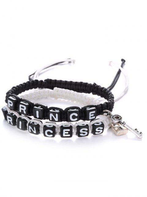 shop Letters Prince Princess Woven Bracelets -   Mobile