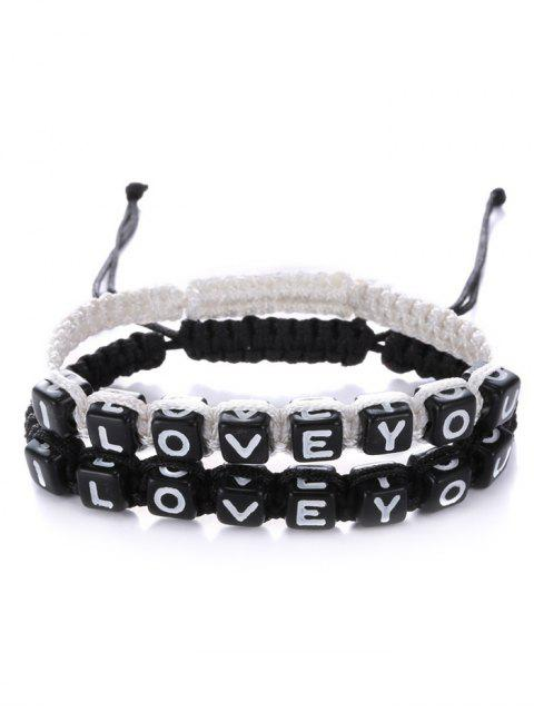 womens Letters I Love You Bracelets -   Mobile