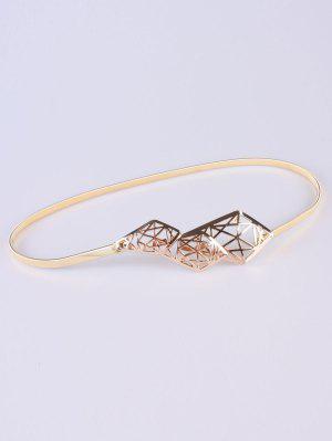 Recortable Geometría Cinturón De Cintura Elástica - Dorado