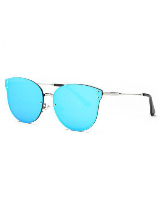 النظارات الشمسية المزينة بالوبال غير قوس - أزرق
