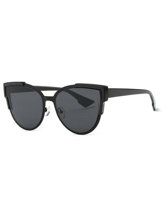 chic Trendsetter Print Cat Eye Sunglasses - BLACK GREY