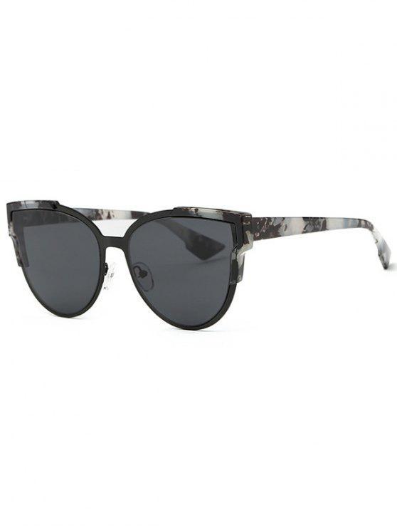 fancy Trendsetter Print Cat Eye Sunglasses - GRAY
