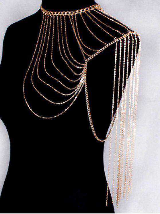 shop Hollow Out Body Chain - GOLDEN