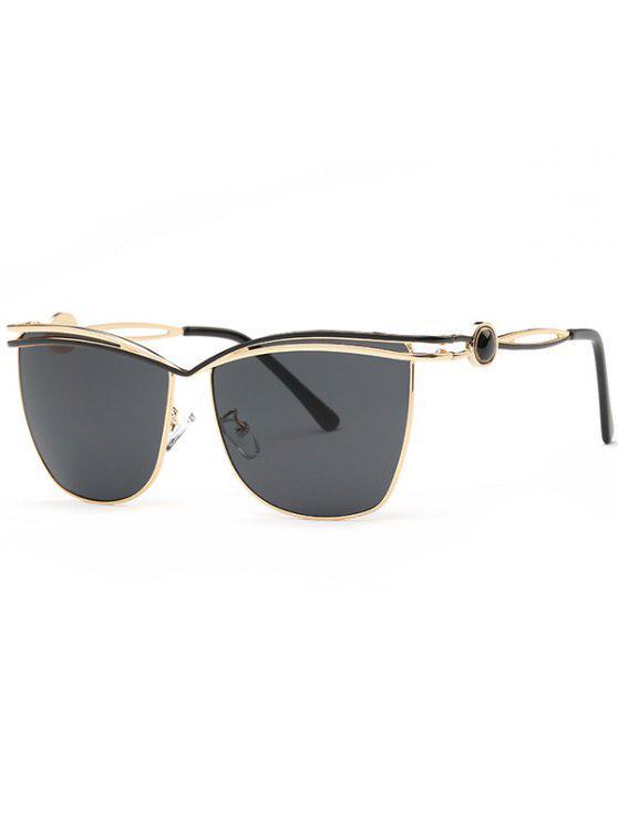 العارضة قطع النظارات الشمسية - أسود رمادي