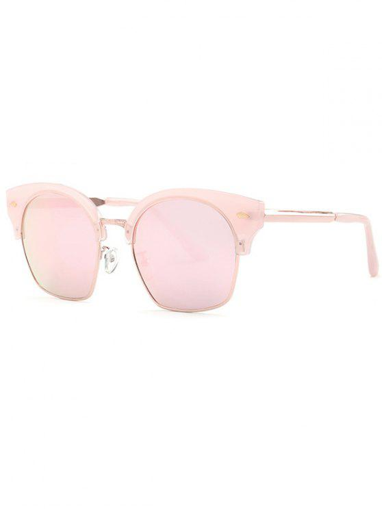 Trendsetter Rosa espejo gafas de sol - Rosado