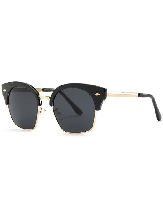 Pionero de la moda gafas de sol irregulares - Gris