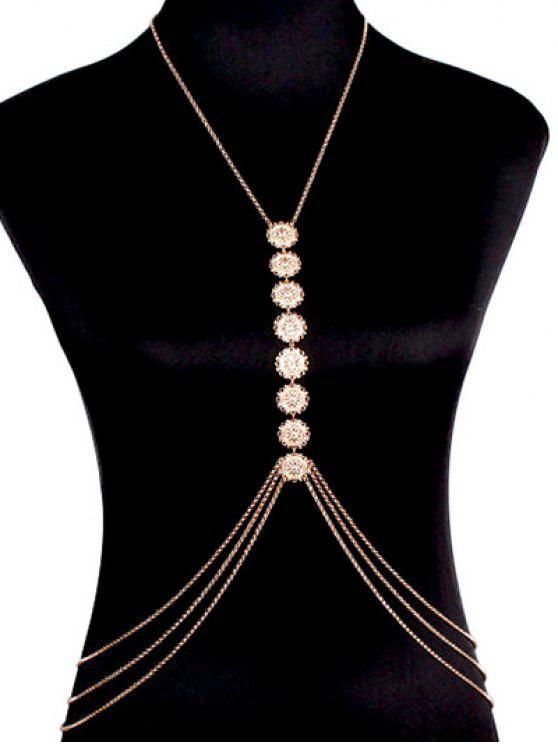 trendy Sequins Body Chain - GOLDEN