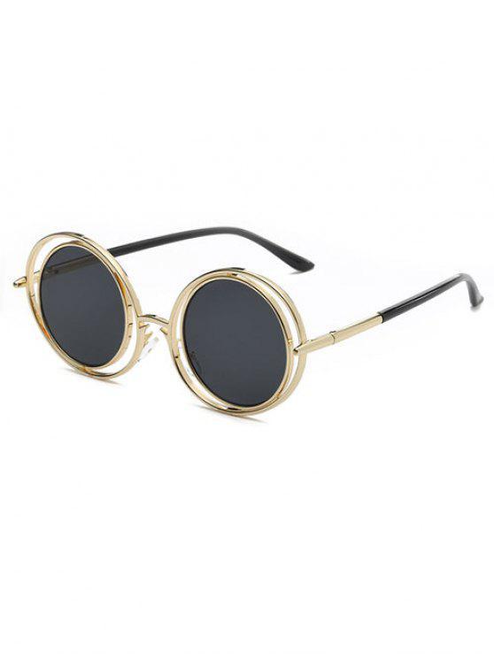 fil de fer lunettes de soleil rondes gris noir lunettes de soleil zaful. Black Bedroom Furniture Sets. Home Design Ideas