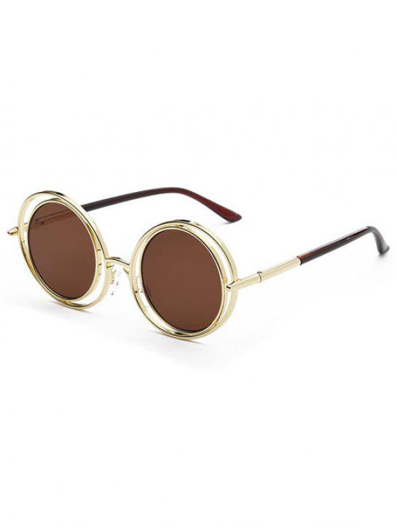 Wire Frame Round Sunglasses TEA-COLORED: Sunglasses | ZAFUL