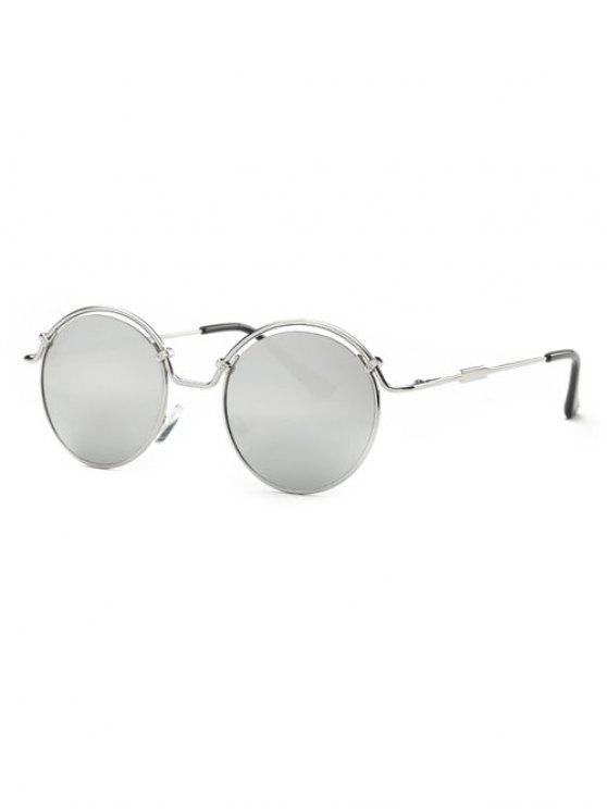 Marco de alambre con espejo gafas de sol - Plata