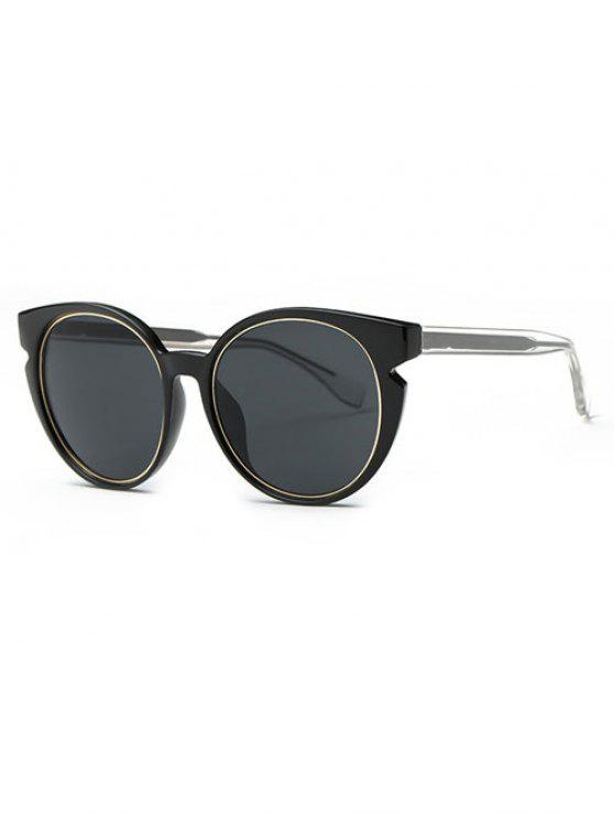 fancy Retro Cat Eye Sunglasses - BLACK GREY