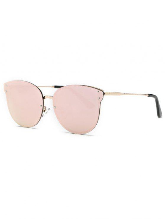 sale Pink Frameless Mirrored Sunglasses - PINK