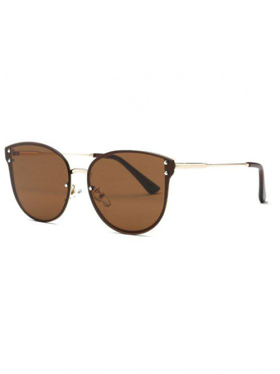 women's Frameless Oversized Sunglasses - COFFEE